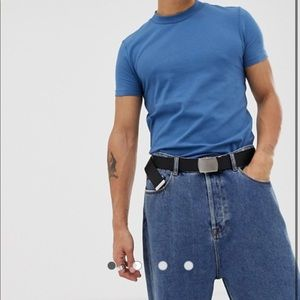 Asos COLLUSION Skinny Fit T-Shirt in Mid Blue